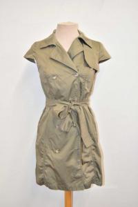 Vestito Trench Donna Max&co. Verde Militare Tg 40