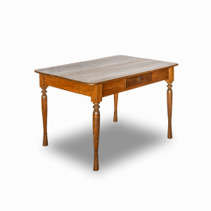 Tavolo / Scrivania in legno di teak balinese con cassettino