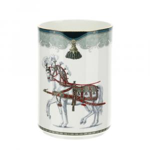 HERVIT - Vaso porcellana decoro Lipizzani, 28376