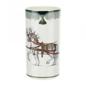 HERVIT - Vaso porcellana decoro Lipizzani, 28377