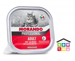 Morando Professional ADULT PATÈ CON MANZO 0,100g