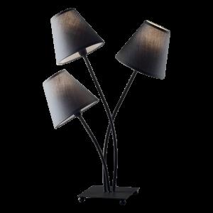 Lampada da tavolo Mascagni in metallo 3 paralumi O1636