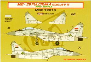 MiG-29 Fulcrum 9-12 Iraqui Service