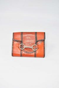 Portamonete In Vero Cuoio Vintage