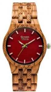 Orologio solo tempo uomo in legno zebrano Green Time ZW114C