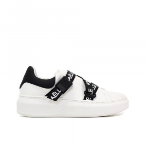 Gaelle Paris Sneakers con stringhe Bianca da Donna