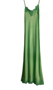 Abito donna  sottoveste | colore verde | viscosa | Made in Italy