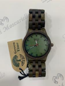 Orologio solo tempo uomo in legno sandalo e ulivo Green Time ZW024I