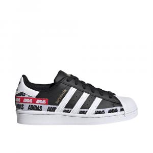 Adidas Superstar Multi logo Bianco Nero da Ragazzi