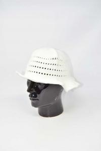 Cappellino Bianco Ricamato