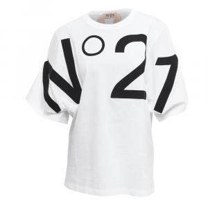 N° 21 - T-SHIRT LOGO OVERSIZE - COL. BIANCO