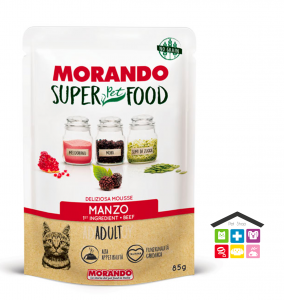 Morando SuperPetFood ADULT MOUSSE MANZO 0,85g bustina