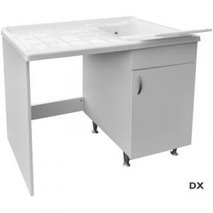MOBILE IN LEGNO CON LAVATOIO + COPRILAVATRICE MOD. IDEX                60 x 108 x H.90 cm