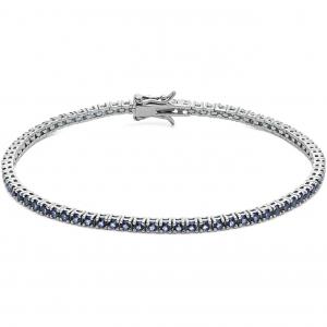 Bracciale uomo tennis con zirconi blu Comete in argento 925 UBR995