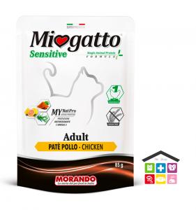 Miogatto ADULT SENSITIVE PATÈ POLLO 0,85g bustina