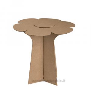 Alzata Avana a forma di fiore in cartoncino 30x29 cm - Espositore per bomboniere