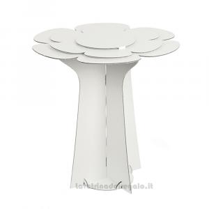 Alzata Bianca a forma di fiore in cartoncino 60x58 cm - Espositore per bomboniere