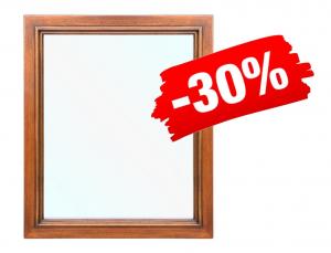 PROMO ! Miroir cadre en bois massif couleur noyer