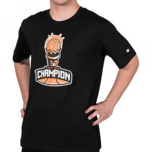 Champion T-Shirt con logo Nera da Uomo