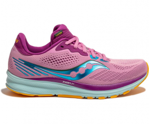 SAUCONY RIDE 14 WOMAN RUNNING