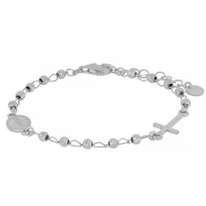 Bracciale rosario argento mis. S