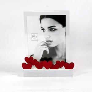 Cornice 7 cuori rossi foto 13x18 di Mascagni