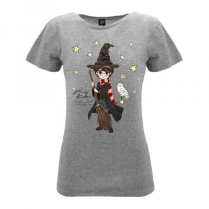 Harry Potter donna maglietta grigia con civetta XS S M L XL XXL