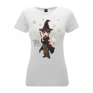 Harry Potter donna maglietta bianca con civetta XS S M L XL XXL