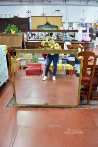 Specchio Antico In Legno Anni 50
