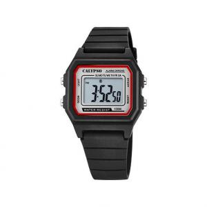 Orologio da polso digitale bambino Calypso nero rosso K5805/4