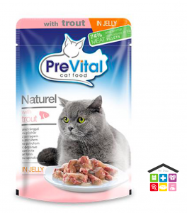 PREVITAL NATUREL POUCH WITH TROUT 0,85G