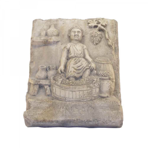 Bassorilievo Vendemmia in marmo di Trani scolpito a mano