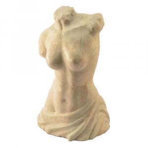 Busto femminile in marmo Botticino Fiorito scolpito a mano