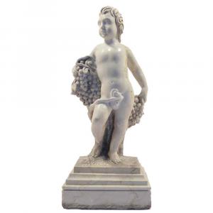 Putto in marmo Carrara Statuario scolpito a mano