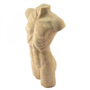 Busto maschile in marmo Biancone Asiago e Nero Marquinia scolpito a mano