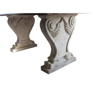 Coppia di basamenti in marmo Bianco Carrara per tavolo