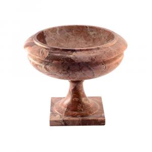 Alzatina ornamentale in marmo Breccia Pernice scolpito a mano