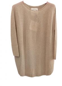 Maglia donna | cotone e fili di lurex | manica lunga | Made in Italy