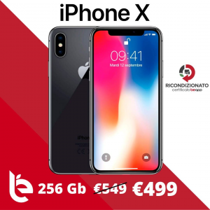 Apple iPhone X 256GB - Ricondizionato