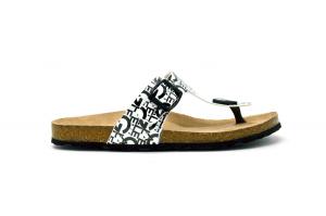 Sandalo con fondo in sughero