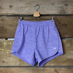 Pantaloncino Adidas Originals in Cotone a Fantasia Lilla e Bianco