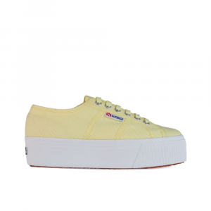Superga Sneakers con Platform Linea Up Gialla da Donna