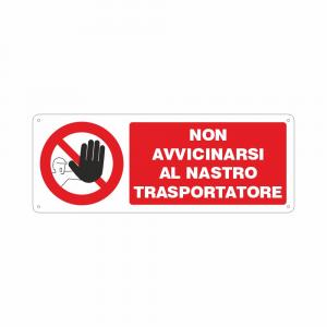 Cartello Non avvicinarsi al nastro trasportatore
