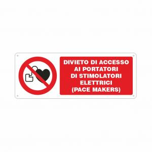 Cartello divieto di accesso ai portatori di pace makers
