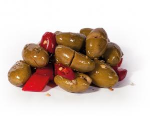 Olive verdi denocciolate piccanti - PecoRaro