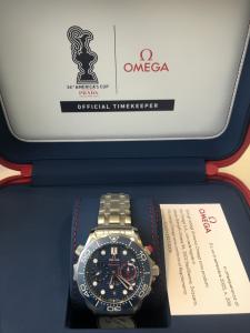 Orologio primo polso Omega Seamster 36th America's Cup Auckland 2021