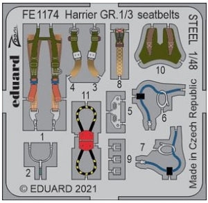 Harrier GR.1/3 Seatbelts Steel