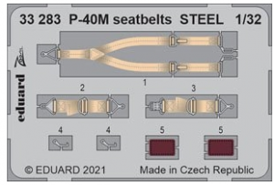P-40M Seatbelts Steel