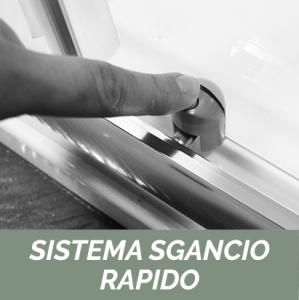 1 LATO PER DOCCIA ANGOLARE CRISTALLO LINEA ESSENTIAL                   cm 93-95 / Apertura cm 36