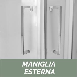 PORTA PIVOTANTE IN CRISTALLO LINEA ESSENTIAL                           cm 98-102 / Apertura cm 72,5